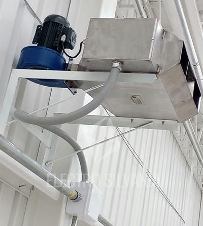 calentador de ambiente con turbina