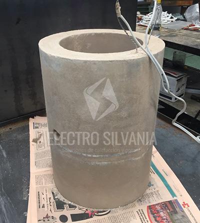 resistencia cilíndrica fundida en cemento refractario