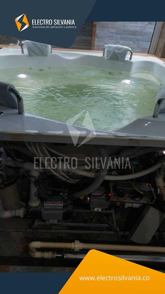 Calentador de paso instalado en jacuzzi. 10 KW - 220 V