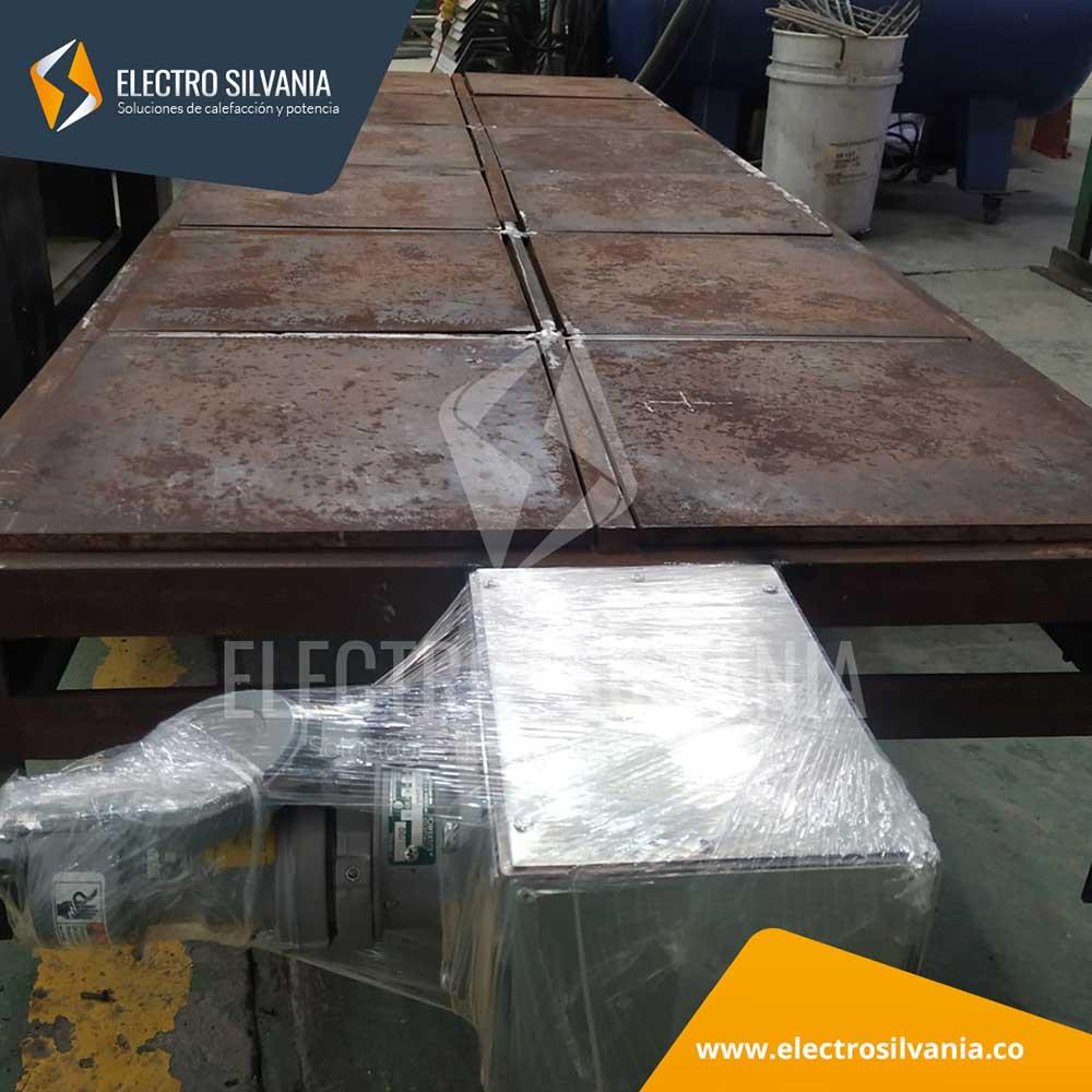 Reparación de plancha para calefacción de 4 tambores metálicos de 55 galones ElectroSilvania 2