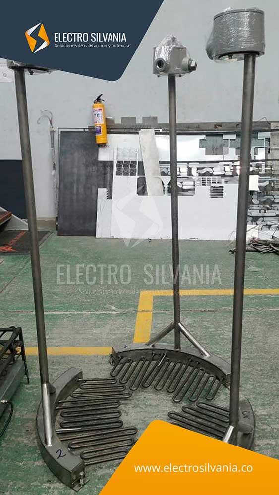 Sistema de calefacción para tanque de almacenamiento de producto de alta viscosidad Electro Silvania
