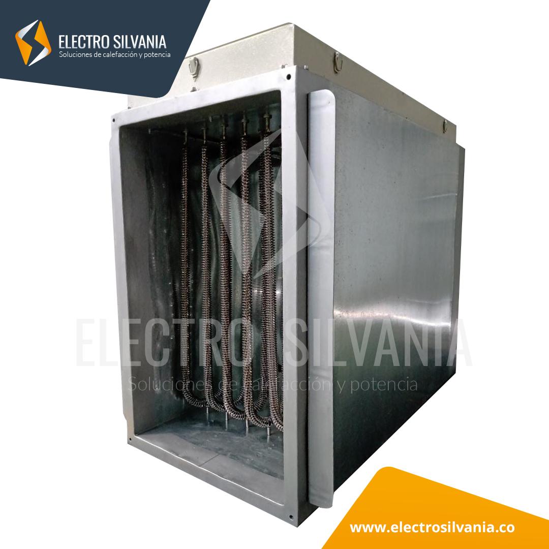 Módulo de resistencias eléctricas industriales para aire forzado de 25 kW + Ducto Electro Silvania 1